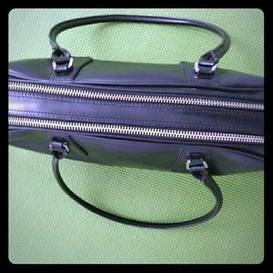 Nine West Matte Black Handbag Satchel Purse